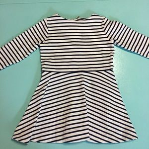 Jacadi Black and White Stripe Dress 3T